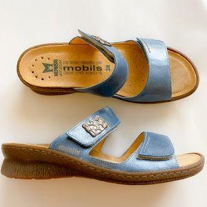 Mephisto 'Bregalia' Metallic Leather Sandal